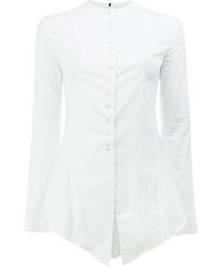 Masnada | Handkerchief Hem Buttoned Shirt Size