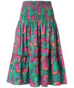 Isolda   Printed Midi Skirt Women 44