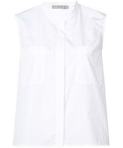 Vince | Collarless Sleeveless Shirt S