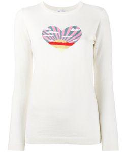 Bella Freud | Sunset Heart Intarsia Jumper Medium Cotton/Cashmere