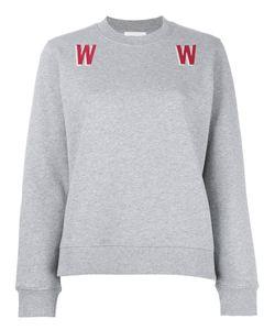 Wood Wood | W Print Sweatshirt Small Cotton