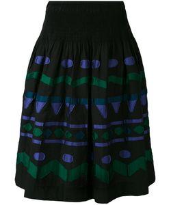 Issey Miyake Cauliflower | Embroidered Patch A-Line Skirt