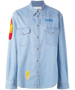 Ava Adore | Patched Denim Shirt