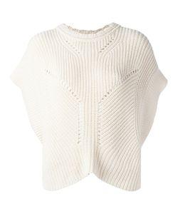 Isabel Marant | Ribbed Knitted Top Size 40 Cotton/Wool/Polybutylene Terephthalate