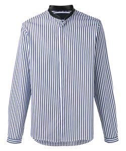 Juun.J   Neck Detail Striped Shirt 46 Cotton