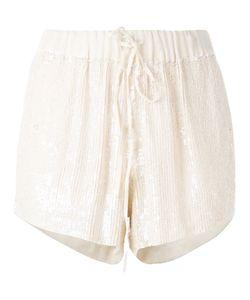 P.A.R.O.S.H. | P.A.R.O.S.H. Drawstring Sequin Shorts