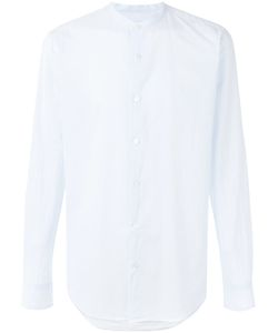 Dries Van Noten | Long Sleeve Collarless Formal Shirt With Curved Hem