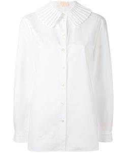 Sara Battaglia | Pleated Collar Shirt
