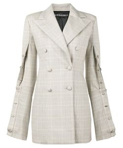 Y / Project | Oversized Check Buttoned Blazer Women