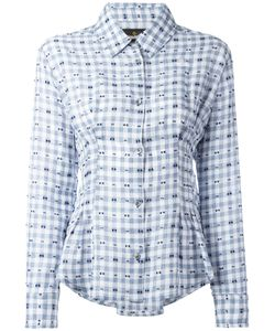 Vivienne Westwood Anglomania | Embroidered Pleated Detail Shirt Size 44