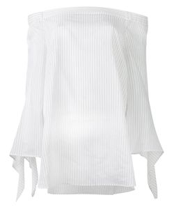 Erika Cavallini | Off-Shoulders Striped Blouse Size 44