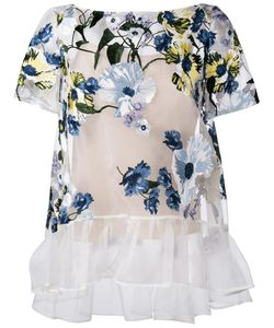 Erdem | Embroidered Sheer Top
