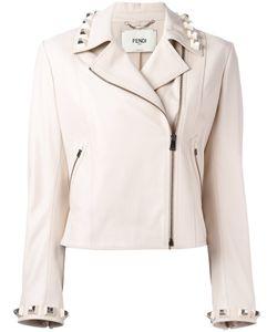 Fendi | Studded Leather Cropped Jacket