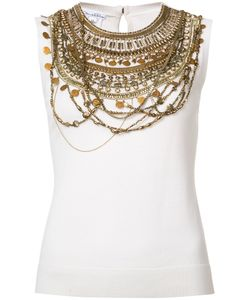 Oscar de la Renta | Sleeveless Chain Layer Tank Top