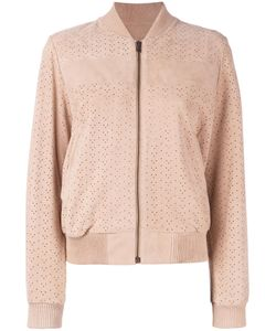 Meteo By Yves Salomon | Perforated Bomber Jacket