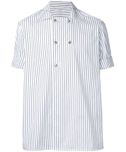 Aganovich | Striped Short Sleeve Shirt Size 48