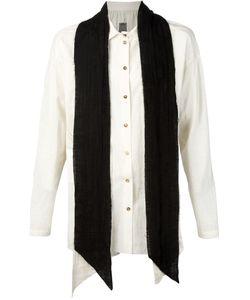 Aleksandr Manamïs | Contrasting Scarf Raw Shirt