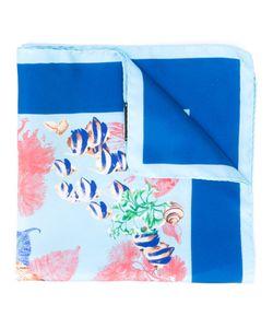 Kiton | Marine Print Pocket Square