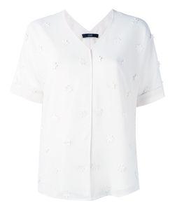 Steffen Schraut | Flower Embellished Shirt Size 34