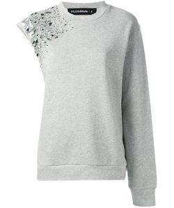 Filles A Papa | Embellished Asymmetric Sweatshirt