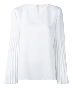Sara Battaglia | Pleated Sleeve Blouse Size 40
