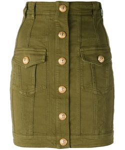 Balmain | Fitted Military Skirt 40