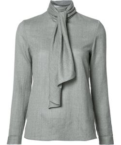 Vanessa Seward | Scarf Detail Blouse 38 Wool