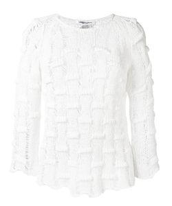Lamberto Losani   Open Knit Jumper Large Cotton/Polyamide