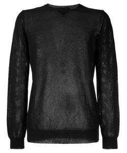 Roberto Collina | Perforated Detail Sweatshirt Size 48