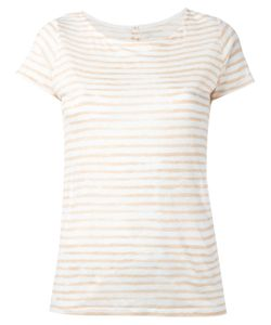 Majestic Filatures | Semi-Sheer Striped T-Shirt Size Iii