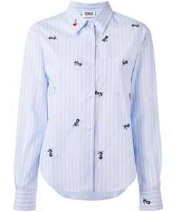 Sonia By Sonia Rykiel | Embroidered Rose Shirt Size 36