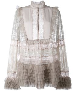 Amen | Sheer Ruffled Blouse 40