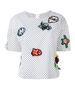 Michaela Buerger | Patches Polka Dots Blouse Size Medium