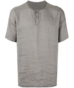 Transit | Buttoned Round Neck T-Shirt