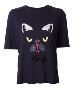 Muveil | Dog Embroidery T-Shirt 38 Cotton