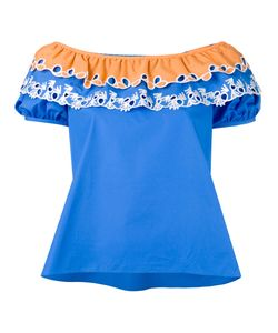 Peter Pilotto | Embroidered Off-The-Shoulder Top