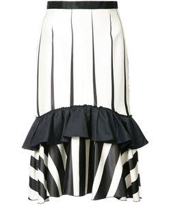 Tome | Striped Frill-Trim Skirt 2