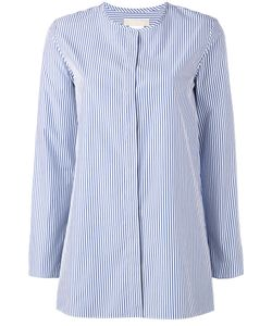 'S Max Mara | S Max Mara Collarless Striped Shirt Size 38