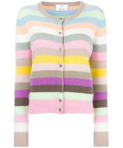 Allude | Striped Cardigan Medium Cashmere