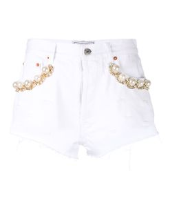 Forte Couture | Pearl And Chain Trim Shorts