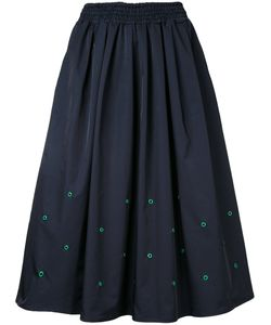 Muveil | Eyelet Detail Midi Skirt 38 Nylon/Polyester