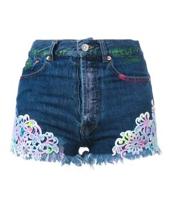 Forte Couture | Embroidered Denim Shorts