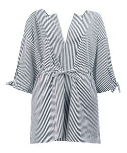 Maison Rabih Kayrouz | Striped Split Neck Blouse Size 40
