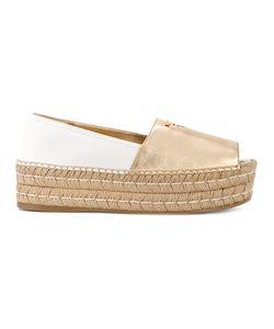 Prada | Peep Toe Platform Espadrilles Size 35