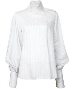 Bassike | Striped Funnel Neck Top
