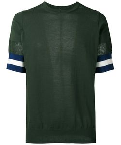Oamc | Stripe Cuff Short Sleeve Sweater Size Small