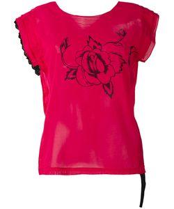Hache   Rose Print T-Shirt 42