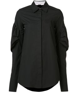 Vera Wang | Puff Sleeve Shirt 10 Cotton
