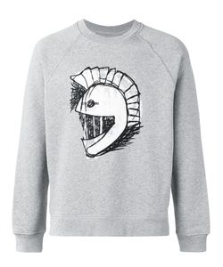 Burberry   Helmet Embroidered Sweatshirt Size Medium