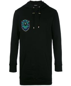 Balmain | Embroide Side Zip Hoodie Large Cotton